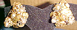 Eugene faux pearl and rhinestone earrings (Image1)