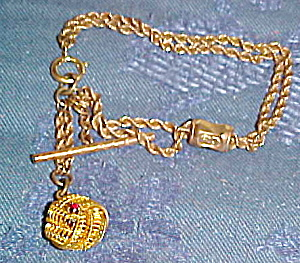 Gold filled bracelet with chrm (Image1)
