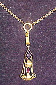 Art Nouveau pendant on chain (Image1)