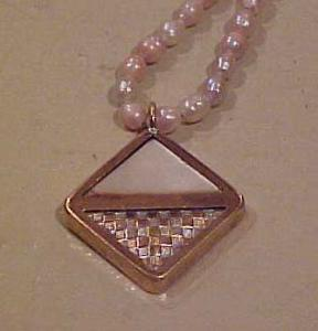 Victorian pendant on necklace (Image1)