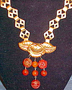 Art deco necklace with bakelite (Image1)