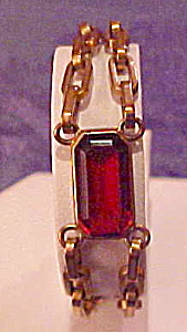 Gold Filled bracelet with topaz glass (Image1)
