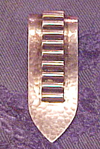 Sterling hammered dress clip (Image1)
