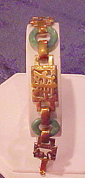 Czechoslovakian bracelet with Asian design (Image1)