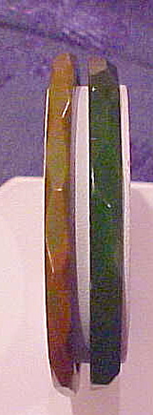 2 Faceted Bakelite Bangles (Image1)