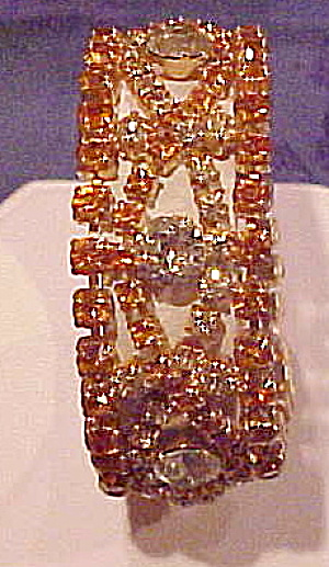 Topaz and citrine rhinestone bracelet (Image1)
