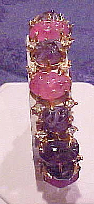 Hinged bangle with glass stones (Image1)