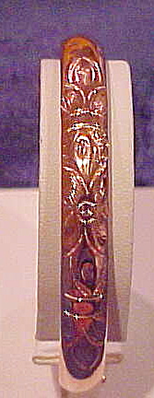 Gold filled bangle with floral design (Image1)