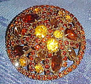 Weiss topaz rhinestone brooch (Image1)