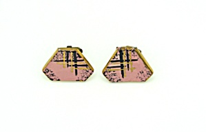 Ceramic cufflinks - 1960s (Image1)