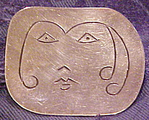 Sterling face pin (Image1)