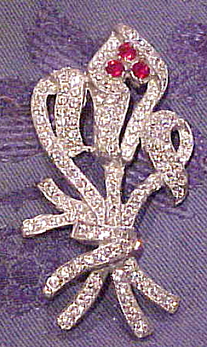 Art deco flower brooch (Image1)