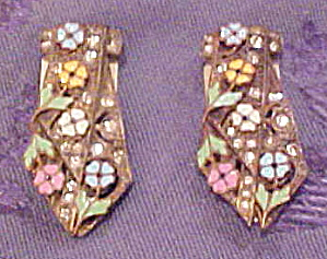Beautiful enameled flower dress clips (Image1)