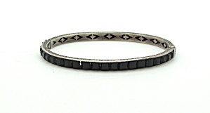 Art Deco Black Rhinestone Bangle (Image1)
