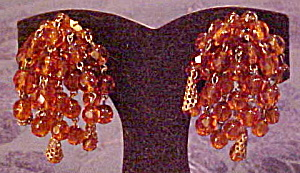 Faceted glass bead earrings Germany (Image1)