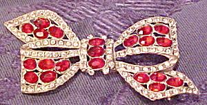 Rhinestone bow brooch (Image1)