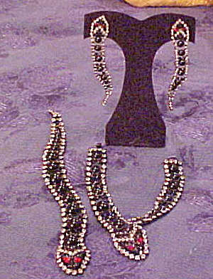 Snake pin, bracelet and earring set (Image1)
