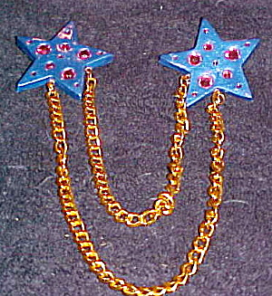 Artist made double star pin (Image1)