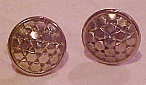 Matte goldtone metal cufflinks (Image1)