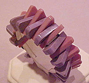 Lavendar and purple plastic bracelet (Image1)