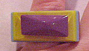 Contemporary plastic layered ring (Image1)