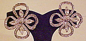 4 leaf clover rhinestone earrings (Image1)