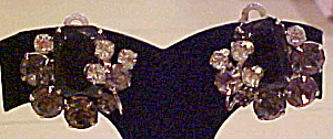 1950s rhinestone earrings (Image1)