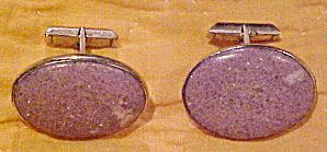 Cufflinks with purple stone (Image1)