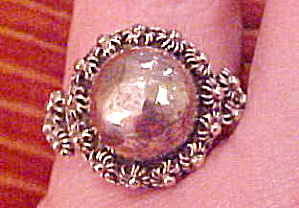 Mexican sterling ring with filligree work (Image1)