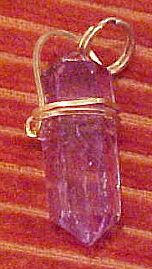 Amethyst Quartz crystal pendant (Image1)