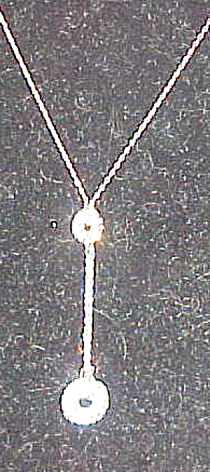 Sterling necklace with rhinestone disks (Image1)
