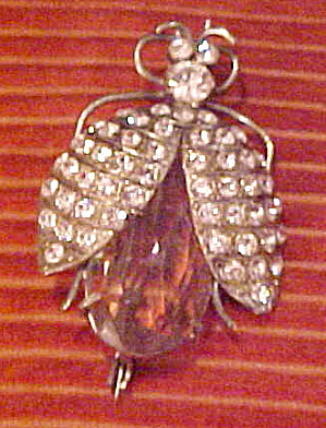 Bug pin with glass belly (Image1)