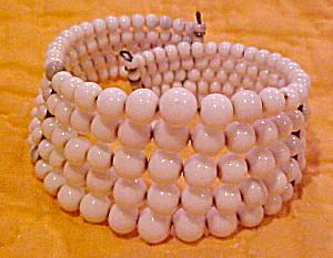 White glass bead cuff (Image1)