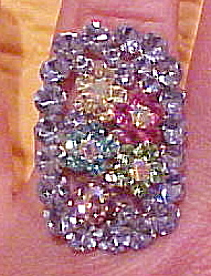 Contemporary rhinestone ring (Image1)