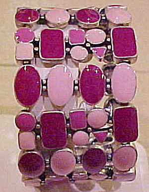 Contemporary enamel stretch bracelet (Image1)