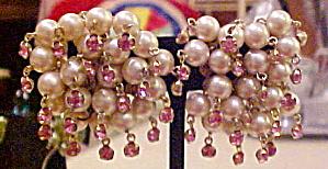 Fringe style bead earrings (Image1)