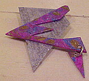 Artist made paper pin 1980s (Image1)