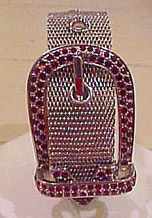 Buckle bracelet with rhinestones (Image1)