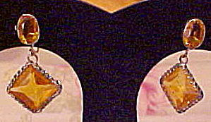 Topaz glass earrings (Image1)