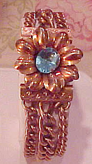 1940s retro bracelet with flower (Image1)