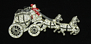 Stagecoach pin with moving wheels- Book Piece (Image1)