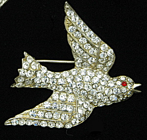 Corocraft Sterling bird pin - Book Piece (Image1)