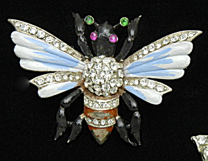 Sterling Bug pin with enameling-Book Piece (Image1)