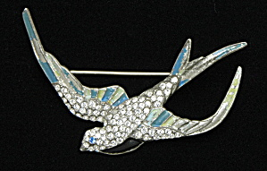 Enameled Bird pin - Book Piece (Image1)