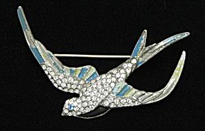 Enameled Bird pin - Book Piece (Image1)