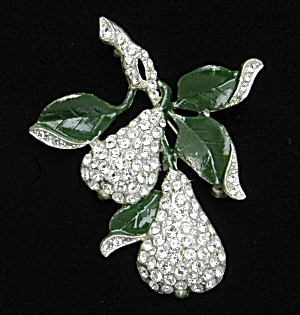 Rhinestone pear pin - Book Piece (Image1)