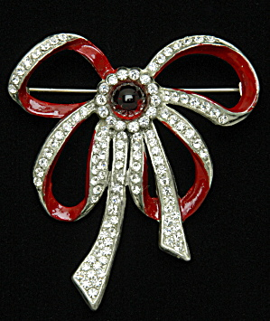 Enamel Bow Pin - Book Piece (Image1)