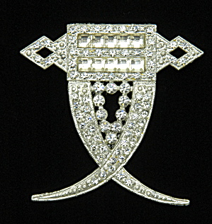 Art Deco rhinestone pin-Book Piece (Image1)