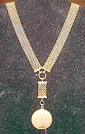 Gold filled woven chain with locket (Image1)