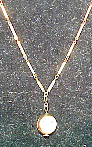 Gold filled chain with watch ball pendant (Image1)